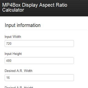 MP4Box Display Aspect Ratio Calculator- RodrigoPolo com